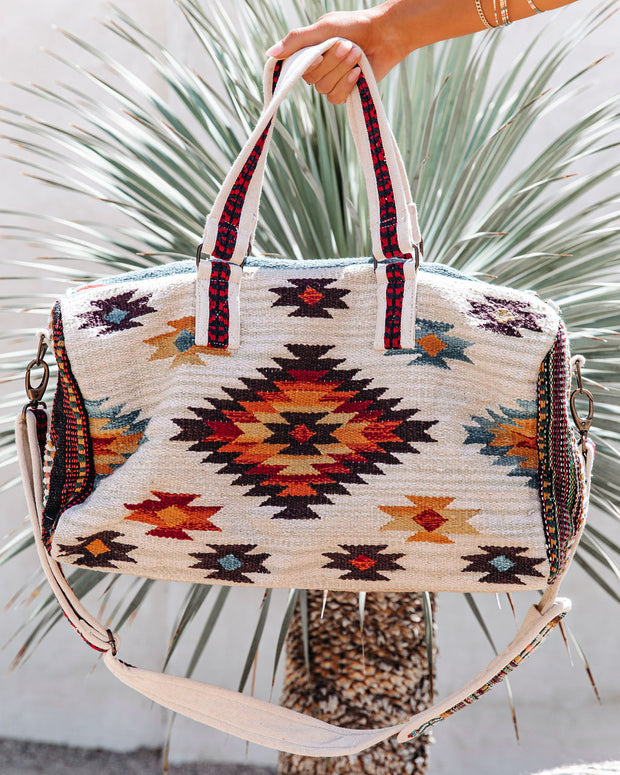 Carlyle Cotton Woven Weekender Bag view 4