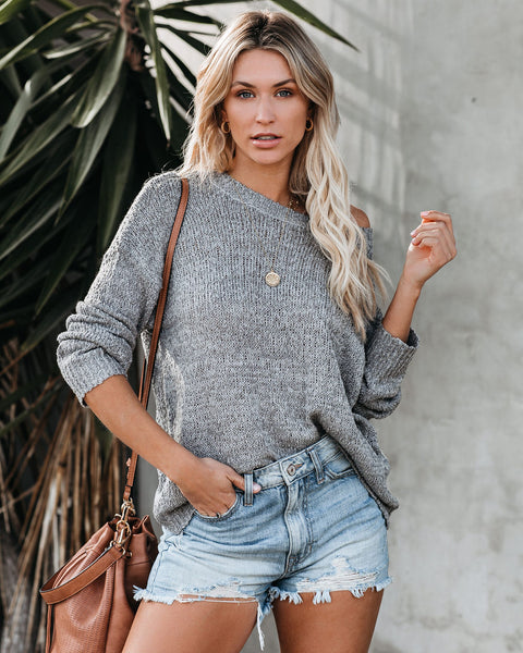 Cassidy Lightweight Knit Sweater - Grey