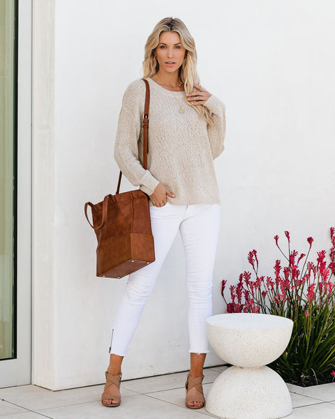 Cassidy Lightweight Knit Sweater - Oatmeal
