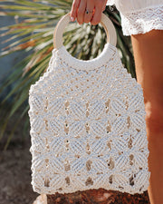 Castaway Woven Handbag - Ivory - FINAL SALE