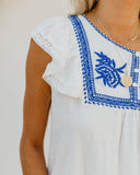 Cayman Island Cotton Embroidered Top