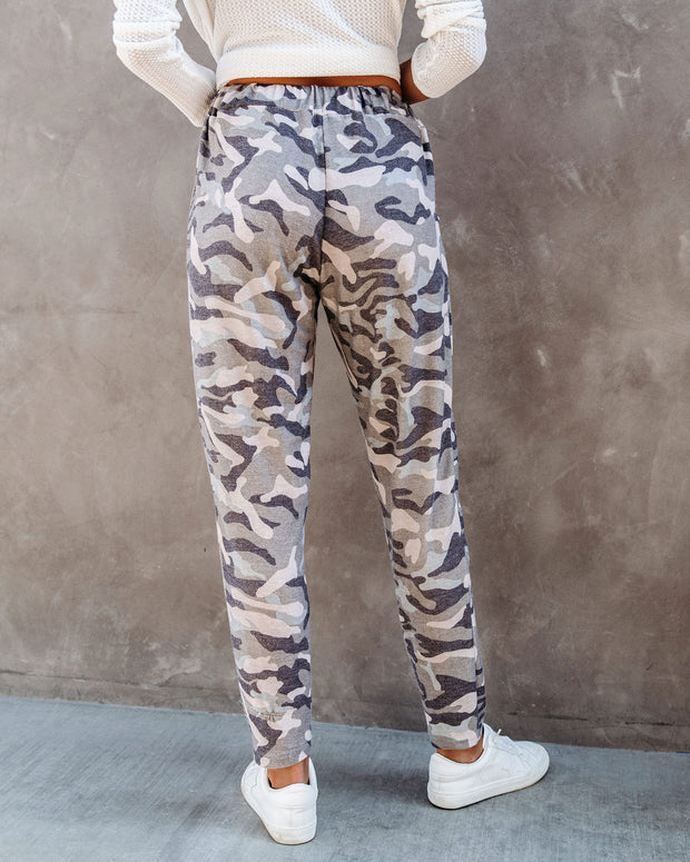 Cedric Pocketed Camo Knit Joggers  - FINAL SALE view 2