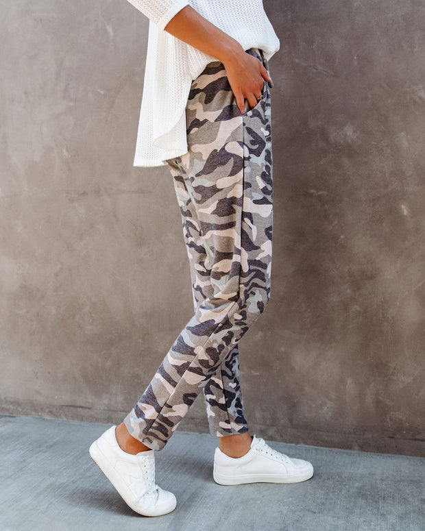 Cedric Pocketed Camo Knit Joggers  - FINAL SALE view 3