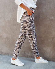 Cedric Pocketed Camo Knit Joggers  - FINAL SALE view 9