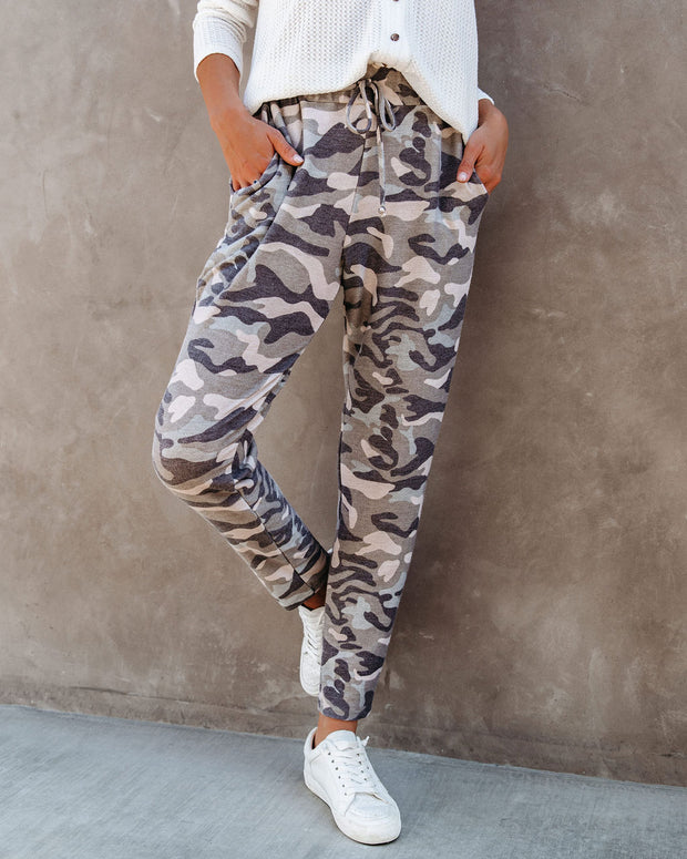 Cedric Pocketed Camo Knit Joggers  - FINAL SALE view 5