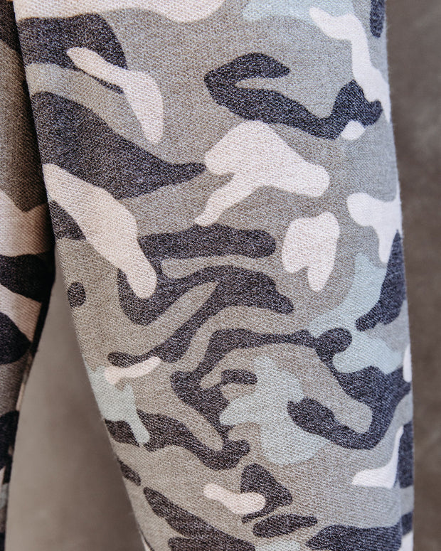 Cedric Pocketed Camo Knit Joggers  - FINAL SALE view 4