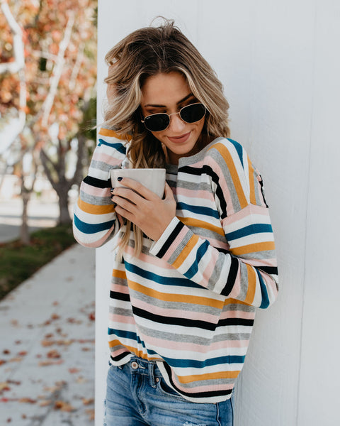 Celeste Striped Knit Sweater