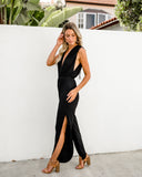 Celina Pocketed Jumpsuit - Black