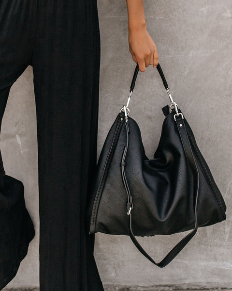 Chance Crossbody Hobo Bag - Black