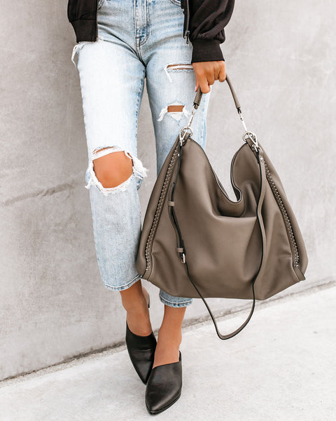 Chance Crossbody Hobo Bag - Grey