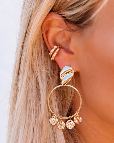 Charming Drop Hoop Earrings