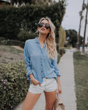 Chattanooga Cotton Button Down Top - FINAL SALE