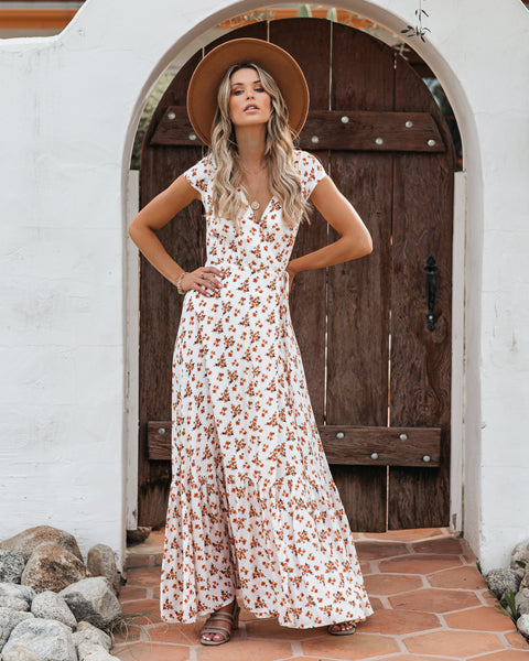 Cheer Up Buttercup Wrap Maxi Dress