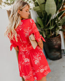 Cherry Red Button Down Dress