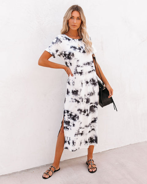 Cheyenne Tie Dye Knit Midi Dress
