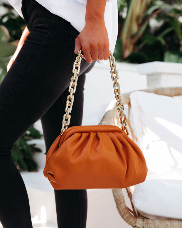 Chic Crossbody Chain Pouch Bag - Caramel view 5