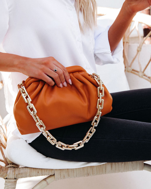 Chic Crossbody Chain Pouch Bag - Caramel view 1