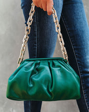 Chic Crossbody Chain Pouch Bag - Forest