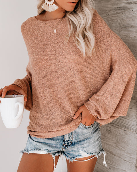 Chillaxin' Dolman Knit Sweater - Ginger