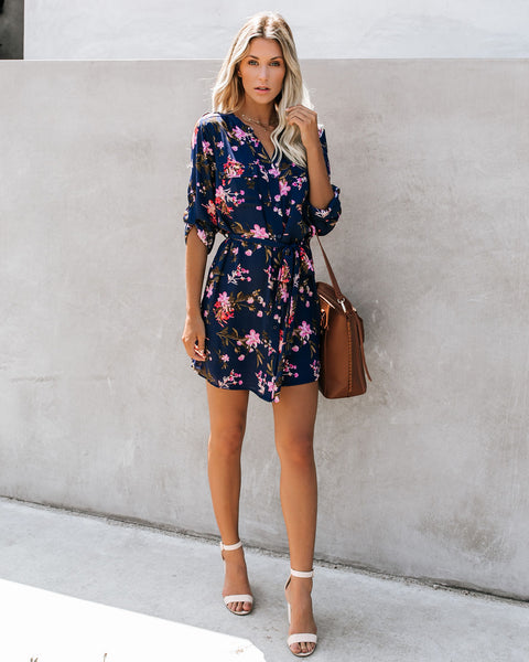 Choose To Shine Floral Button Down Dress - FINAL SALE