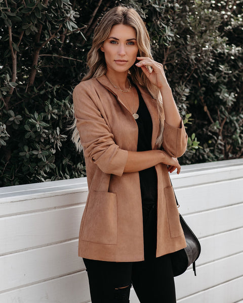 Churchill Pocketed Faux Suede Jacket - FINAL SALE