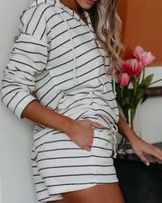 Ciara French Terry Pocketed Striped Shorts - FINAL SALE