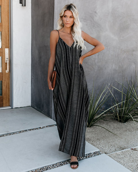 Claudia Pocketed Cotton Blend Maxi Dress - FINAL SALE