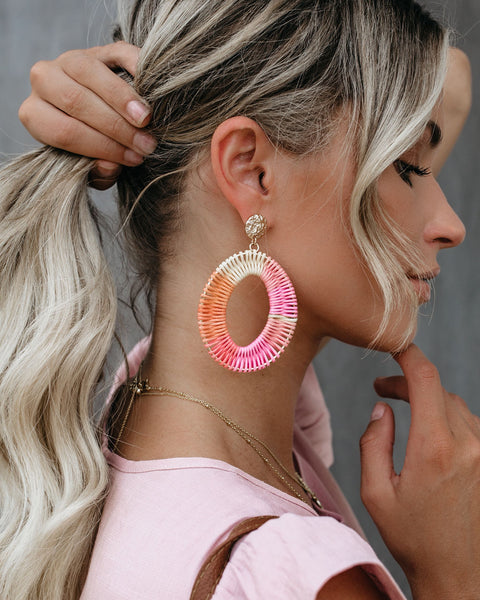 Clementine Woven Statement Earrings