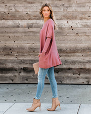 Close To You Pocketed Sweater - New Mauve