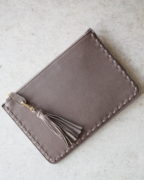Day Of Zest Clutch - Taupe