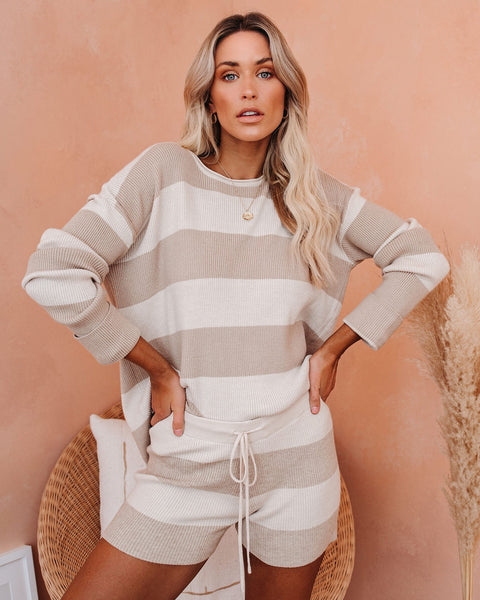 Coffee In The Morning Striped Knit Top  - FINAL SALE
