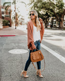 Colbie Dolman Cardigan - French Rose