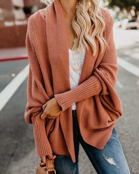 Colbie Dolman Cardigan - French Rose - FINAL SALE