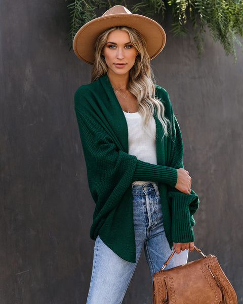 Colbie Dolman Cardigan - Green  - FINAL SALE