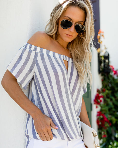 Coley Off The Shoulder Drape Top