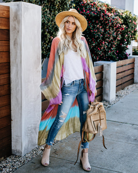 Colorful World Tie Dye Kaftan