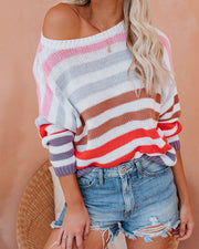 Color Theory Cotton Striped Sweater