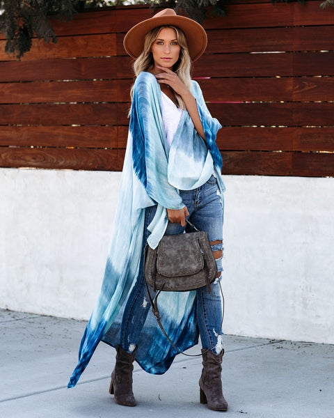 Colorway Tie Dye Kaftan - Ocean