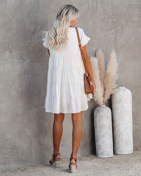 Colton Cotton Pocketed Babydoll Dress