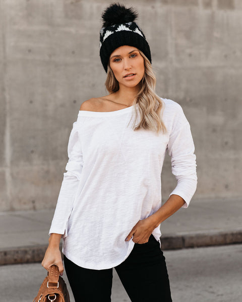 Comfort In Cotton Top - White