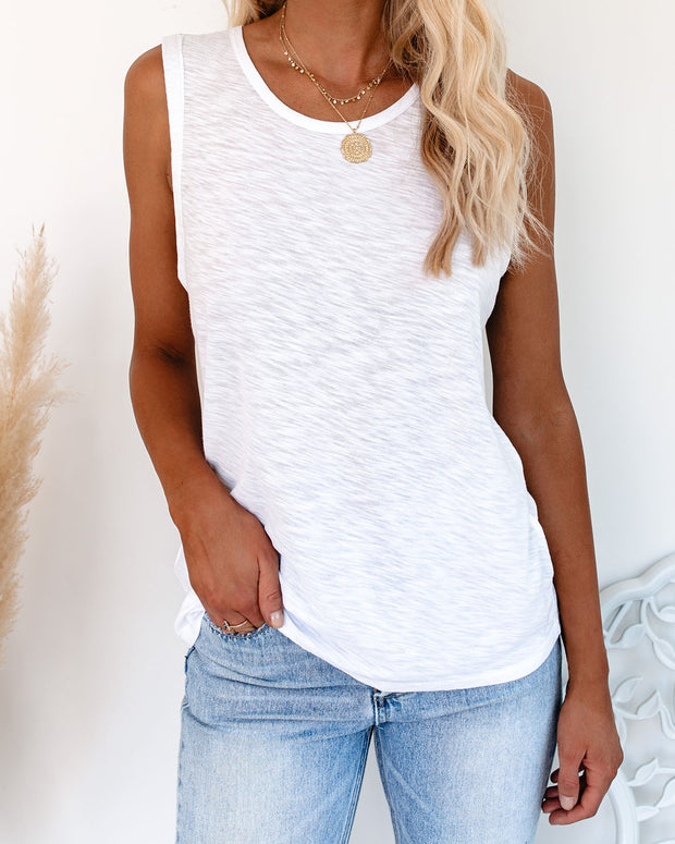 Common Ground Muscle Tank - White