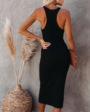 Compliments Knit Midi Dress - Black view 2