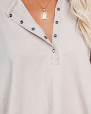 Conrad Cotton Long Sleeve Henley Top