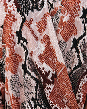 Contessa Snake Print Shimmer Drape Blouse - FINAL SALE view 4