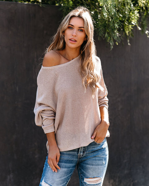 Convenience Dolman Knit Sweater - Champagne  - FINAL SALE