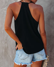 Cool Girl Racerback Tank - Black view 2