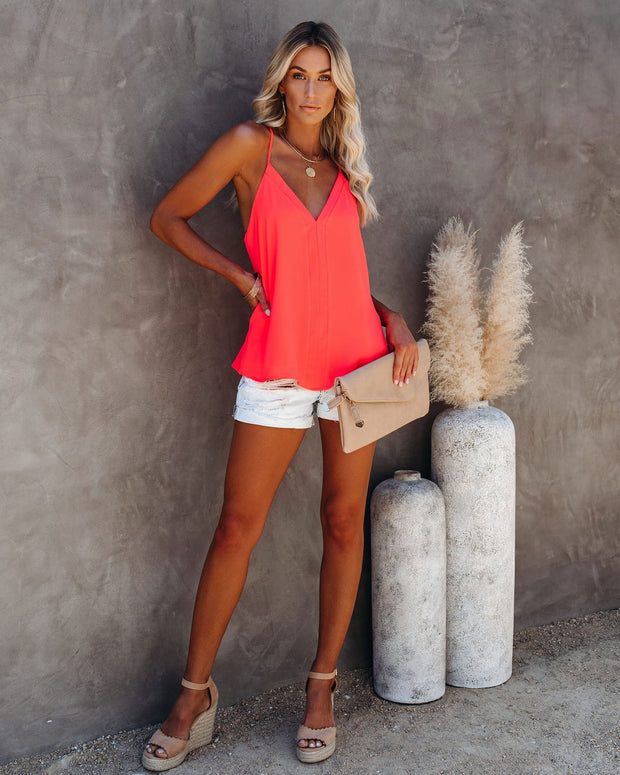 Cool Girl Racerback Tank - Bright Coral view 6