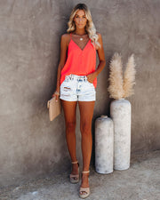 Cool Girl Racerback Tank - Bright Coral view 1