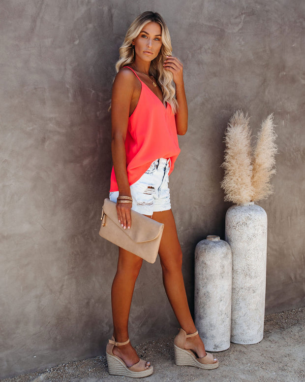 Cool Girl Racerback Tank - Bright Coral view 7