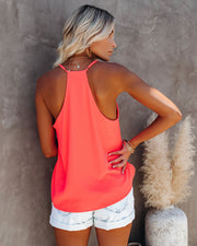 Cool Girl Racerback Tank - Bright Coral view 2
